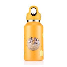 美國第二代無螺紋秒開式兒童保溫保冷瓶355ml- 芒果黃