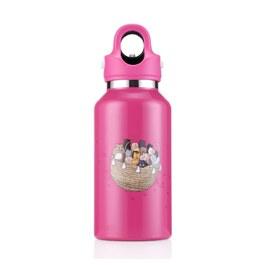 美國第二代無螺紋秒開式兒童保溫保冷瓶355ml- 亮麗粉